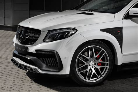 white mercedes gle coupe   topcar inferno kit