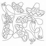 Mexican Hat Drawing Dance Getdrawings Studio Quilt sketch template