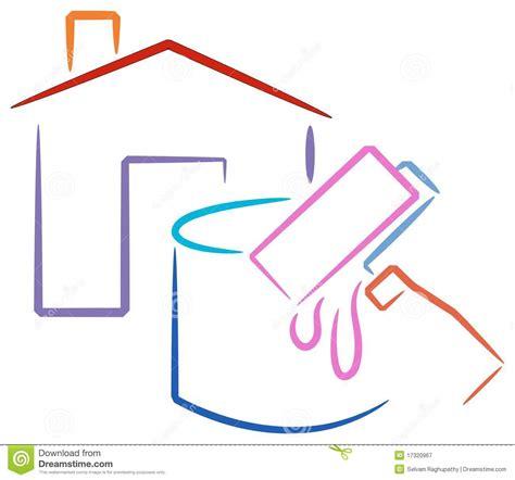 logotipo da pintura de casa ilustracao  vetor