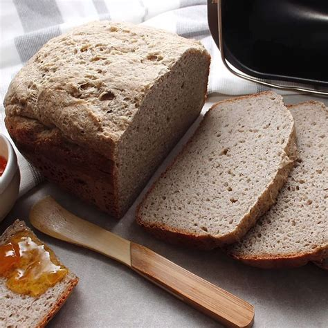 This almond flour sandwich bread tastes amazing, holds together, and is easy to make! Gluten-Free Vegan Bread Machine Loaf (With images) | Gluten free vegan bread, Gluten free bread ...