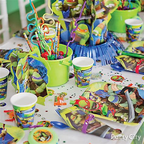 Turtle Decorations Ideas by Tmnt Place Setting Idea City