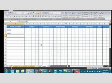 HORARIOS PARA INSTITUCIONES EDUCATIVAS EN EXCEL YouTube