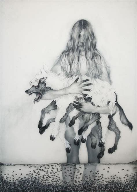 pathetic fallacy drawings  anthony goicolea