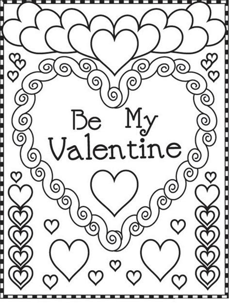 valentines day colors valentines coloring pages happiness is