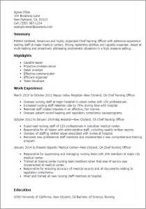 functional resume for correctional officer professional chief nursing officer templates to showcase your talent myperfectresume