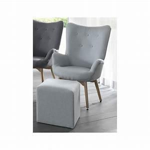 Fauteuil Vintage Pas Cher : fauteuil vintage tissu bleu stone ~ Teatrodelosmanantiales.com Idées de Décoration