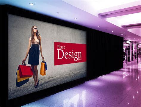 indoor advertising mockups  premium templates