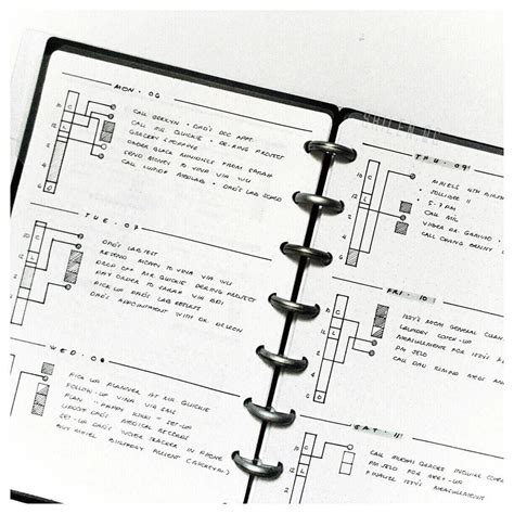 minimal bullet journal random art black  white