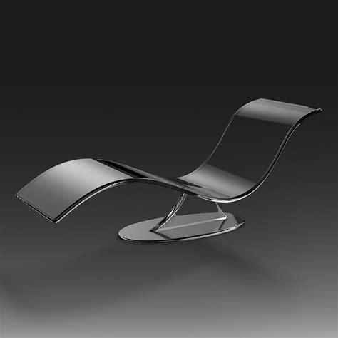 chaise plexiglas 3d model acrylic chaise lounge