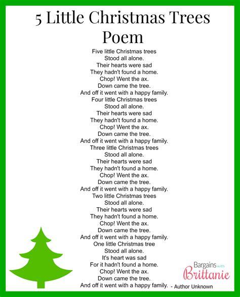 5 little christmas trees finger play gloves poem