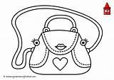 Coloring Purse Handbag Purses Drawing Printable Ius Tech Baguette Youtu Zapisano sketch template