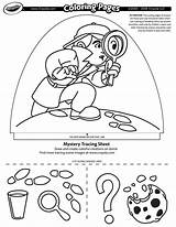 Coloring Mystery Dome Light Crayola Pages Designer sketch template