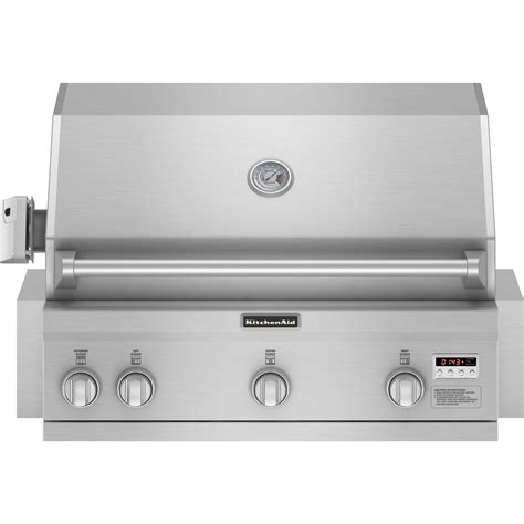 Kitchenaid 36 Grill Rotisserie Kit by Kitchenaid Kbnu367vss 36 Quot Built In Stainless Steel Gas