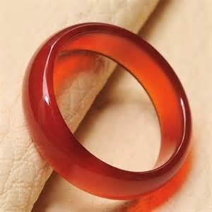Orange Carnelian Stone Rings
