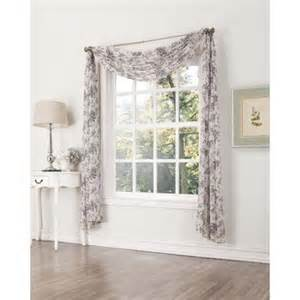 athena crushed voile print window curtain scarf walmart com