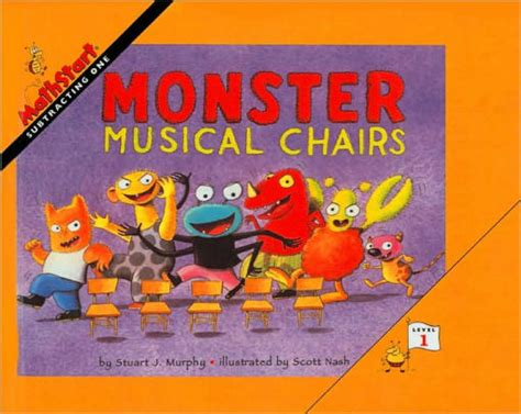 What readers like about this book: Monster Musical Chairs: Subtracting One (MathStart 1 Series) by Stuart J. Murphy, Scott Nash ...