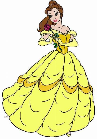 Belle Princess Clipart Disney Cliparts Outline Clip