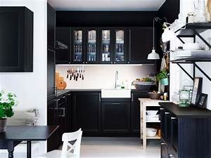 Küchen Ikea Landhaus : schwarze k che bilder ideen f r dunkle k chen k chenfinder ~ Orissabook.com Haus und Dekorationen