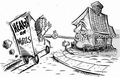 Health Mobile Cartoon Service Cartoons Wheels Comics
