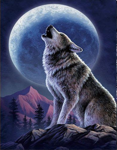 details  wolf howling lenticular  picture animal