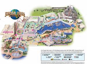 2016 Universal Studios Orlando Florida Map