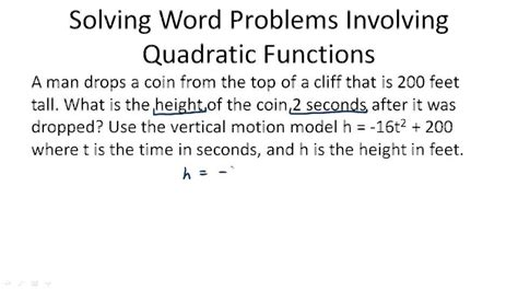 Using Quadratic Equations To Solve Problems  Ck12 Foundation