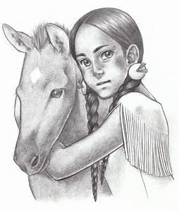 Native American Girl with Foal by SAkURA-JOkER on DeviantArt