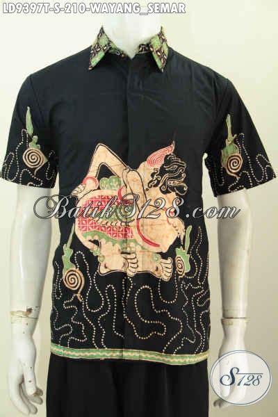 Kalung Motif Semar baju batik lengan pendek motif semar hem batik tulis