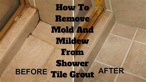 remove mold  mildew  shower tile grout