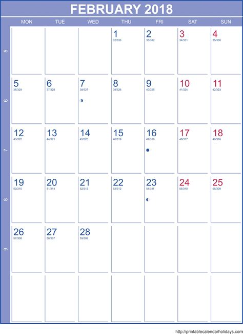calendar 2017 template february february 2018 calendar template printable 2017 calendars