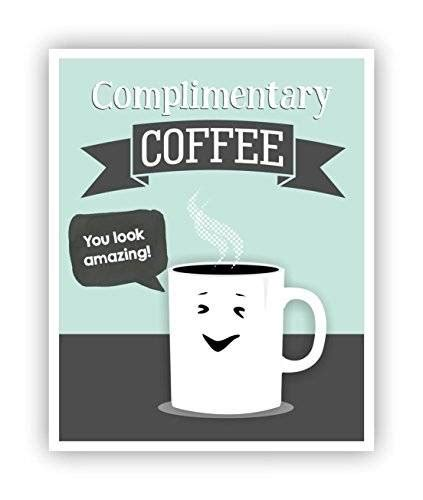 Office Supplies Puns by Complimentary Coffee Poster Office