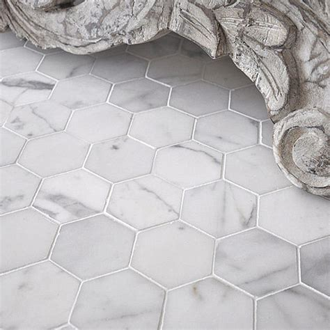 marble hexagon tile tile floor design ideas decorations tree