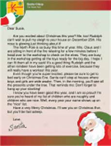 Printable baby39s first letter from the easter bunny for Santa letters for older child