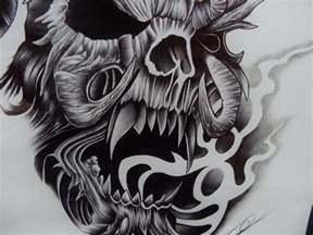 Smoke Skull Tattoo Drawing