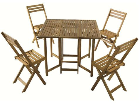 Ensemble Table + 4 Chaises De Jardin  Vente De Ensemble