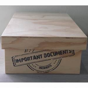 important document natural box santos With box for important documents