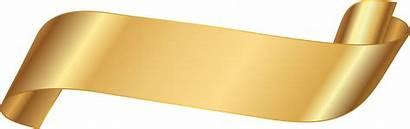 Ribbon Banner Gold Background Pngkey