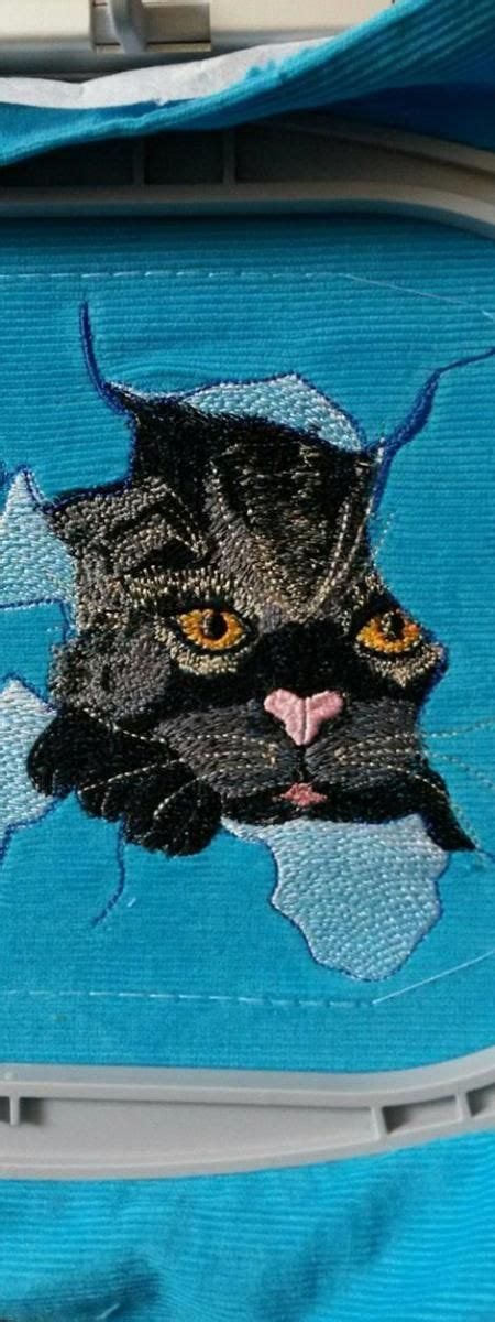 Angry cat free embroidery design   Free machine embroidery