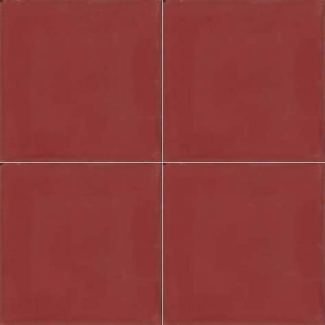 Moroccan Encaustic Cement Single Colour Tile Red