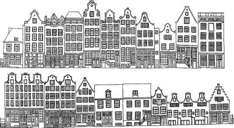 Kleurplaat Amsterdamse Huisjes by Kleurplaten Fotolijstjes 93 Best Images About