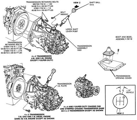 1998 Ford F150 Automatic Transmission Diagram by Removal Of Gear Shift On A 1997 F150 Manual Transmission