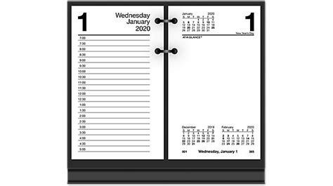daily desk calendar refill glance