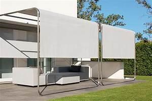 design sonnensegel aufrollbar sicht sonnenschutz fur With garten planen mit markise für kleinen balkon