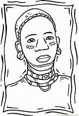 Coloring African Woman Pages Africa American Afro Printable Coloringpages101 Drawing Sheets Countries Para Desenhos Africanos Africans Pdf Drawings Getcolorings Imagem sketch template