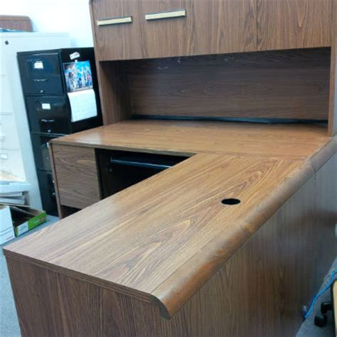 Office Furniture Kitchener by L Shape Executive Size Desk With Hutch Kitchener