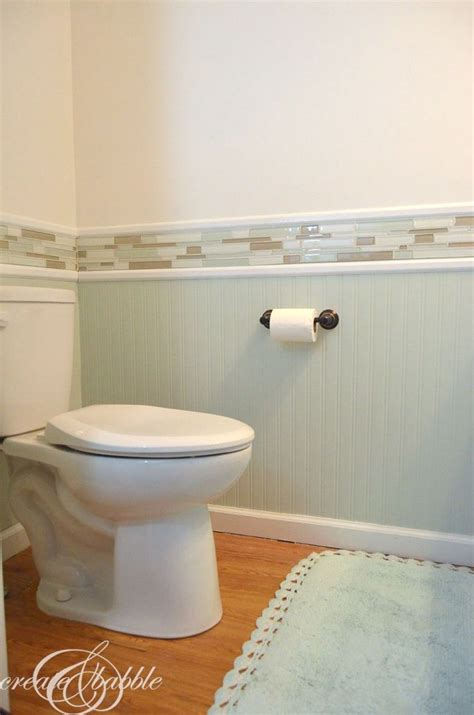 Beadboard And Tile Bathroom by Powder Room Makeover Powder Room Room And Detail