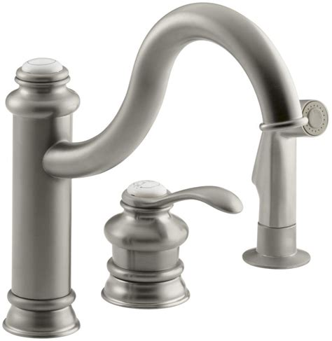 Kohler Fairfax Bathroom Faucet Aerator by Kohler K 12185 Bn Brushed Nickel Single Handle Kitchen