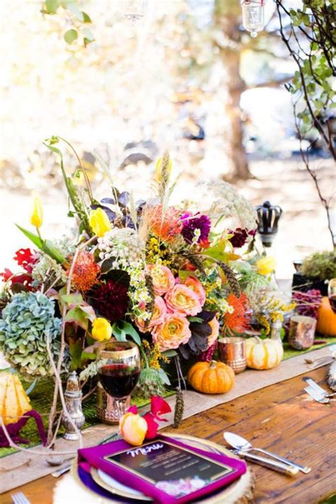 colorful autumn outdoor party birthday party ideas  kids