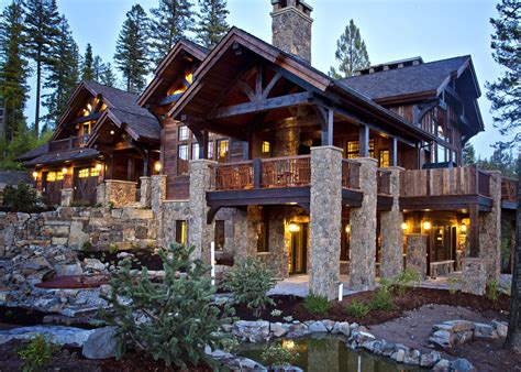 log cabin  stone sugar bowl residence whitefish montana dream house log cabin homes