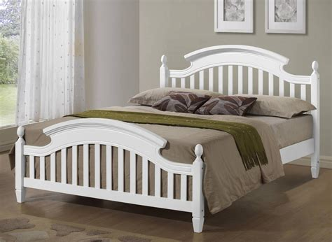Zara White Wooden Arched Headboard Bed Frame In 3ft Single